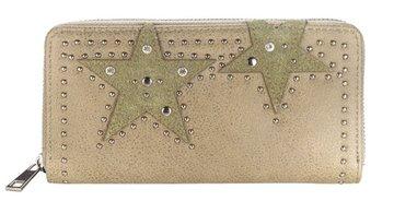 Dames portemonnee met sterren - kaki