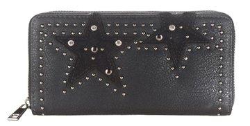 Dames portemonnee met sterren - zwart