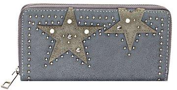 Dames portemonnee met sterren - grijs