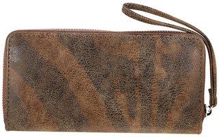 Dames portemonnee met zebraprint - bruin