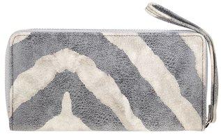 Dames portemonnee met zebraprint - offwhite / grijs