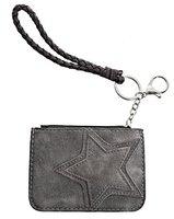 Dames mini-portemonnee met ster - grijs