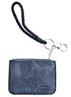Dames mini-portemonnee met ster - blauw