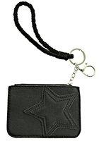 Dames mini-portemonnee met ster - zwart