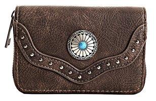 Dames portemonnee boho-stijl - bruin