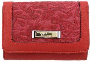 Dames portemonnee met bloemen - rood