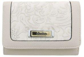 Dames portemonnee met bloemen - wit