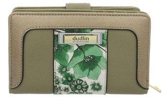 Dames portemonnee met bloemen - groen