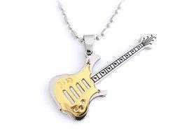 Ketting + hanger staal - gitaar