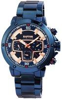 Raptor Watches herenhorloge met stalen band - blauw / rosé