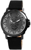 Raptor Watches herenhorloge met skull - grijs / zwart