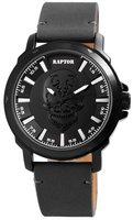 Raptor Watches herenhorloge met skull - zwart / grijs