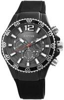 Raptor Watches herenhorloge met rubberen band - zwart