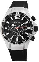 Raptor Watches herenhorloge met rubberen band - zwart / zilver