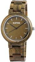 Raptor Watches houten herenhorloge / wood watch - groen / bruin