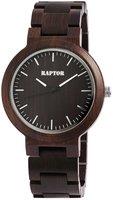 Raptor Watches houten herenhorloge / wood watch - donkerbruin