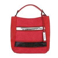 Dames tas / handtas met afneembare schouderband - rood
