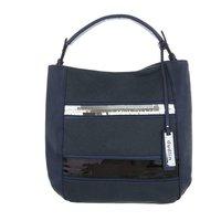 Dames tas / handtas met afneembare schouderband - donkerblauw