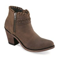 Dames western enkellaarzen / cowboy boots echt leder - brown