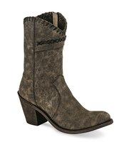 Dames western laarzen / cowboy boots echt leder - vintage charcoal