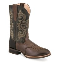 Heren western laarzen / cowboy boots echt leder - olive green chocolate