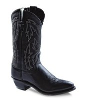 Dames western laarzen / cowboy boots echt leder - black