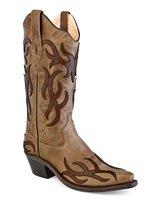 Dames western laarzen / cowboy boots echt leder - tan chocolate