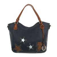 Dames tas / handtas met afneembare schouderband - blauw