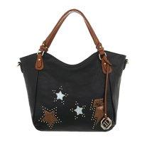 Dames tas / handtas met afneembare schouderband - zwart