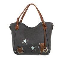 Dames tas / handtas met afneembare schouderband - grijs