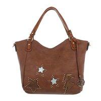 Dames tas / handtas met afneembare schouderband - bruin