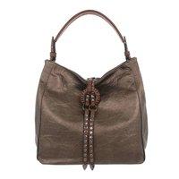 Dames tas / handtas met studs en afneembare schouderband - brons