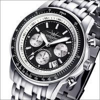 FireFox Chronograph AIRLINER FFS04-102B black / white