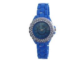 Yintai dameshorloge met stalen band - klein / blauw