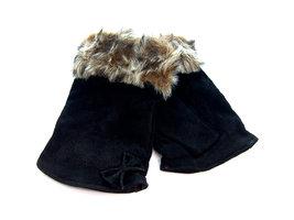 Handschoenen dames echt leder (toploos) - zwart