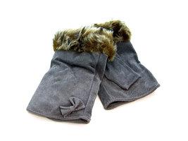 Handschoenen dames echt leder (toploos) - grijs