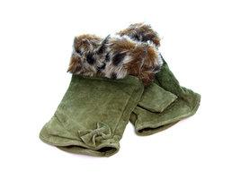 Handschoenen dames echt leder (toploos) - groen