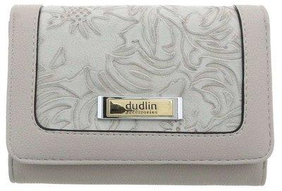 Dames portemonnee met bloemen - lichtgrijs